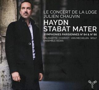 D'Haydn, Julien Chauvin joue Stabat Mater, Symphonies Hob.I:84 et  Hob.I:86